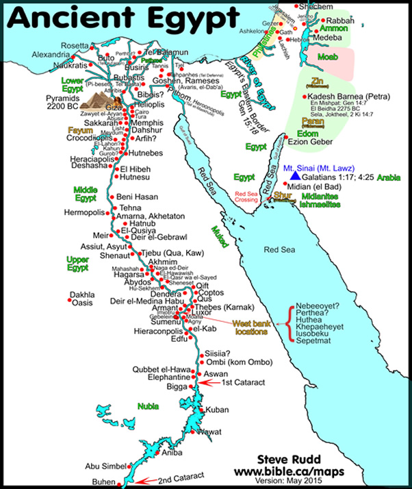 Bible Map Ancient Egypt Surrounding Nations - Map of egypt israel