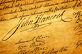 signatures on the Declaration of Independence